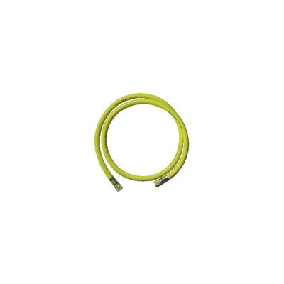 "Flexible jaune longueur 1,50m FF3/8"" SAE"
