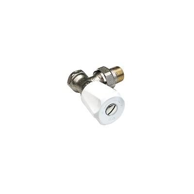 Angle radiator valve single adjustable flow setting F 3/8 - COMAP : 418203