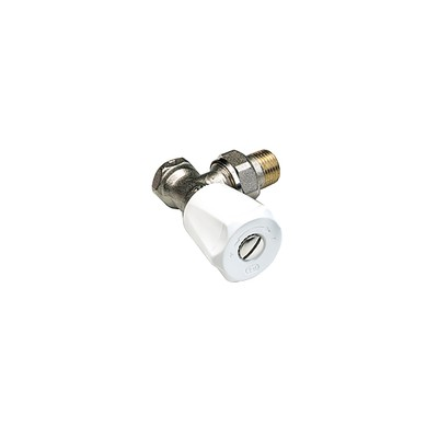 Angle radiator valves single adjustable flow setting F 1/2 (X 10) - COMAP : 418204