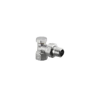 Angle radiator valve with presetting and isolating Combi 2 DN 20  - OVENTROP : 1091063