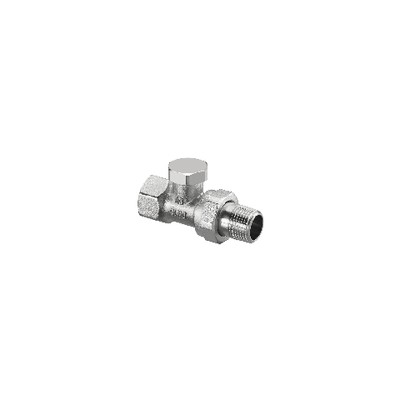 Straight radiator valve with presetting and isolating Combi 2 DN 10  - OVENTROP : 1091161