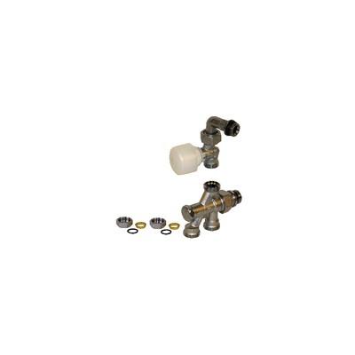 "4 ways valve R436/1TG 1/2"" x 16 - GIACOMINI : R436IX043"