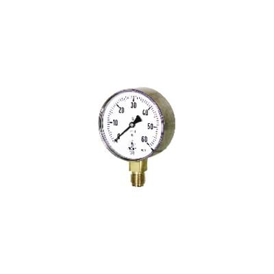 Manomètre gaz d'inspecteur de 0 à 60 mb