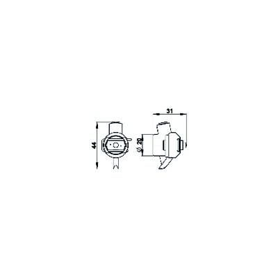 Domestic hot water pump 15/70-3 - COSMOGAS : 62301046