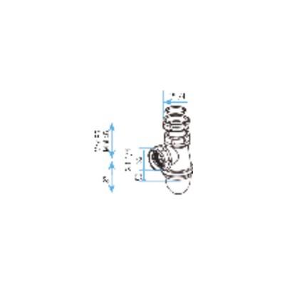 Válvula de radiador escuadra pn10 dn20 - SIEMENS : VEN220