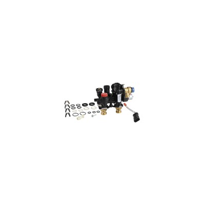 Standard thermostatic radiator valve body Calypso Exact straight DN10 3/8 - IMI HYDRONIC : 3452-01.000