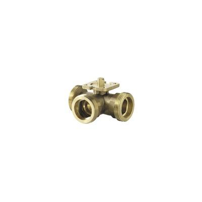 3-port ball valve, externally threaded, PN40, DN20, kvs 6.3 - SIEMENS : VBG61.20-6.3