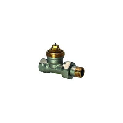 Vanne radiateur droite PN10 DN15 1/2'' - SIEMENS : VDN215