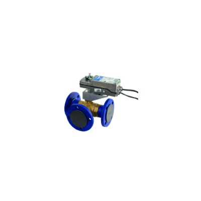 Válvula de 3 vias esférica pn16 con brida  - JOHNSON CONTR.E : VG18E5GT