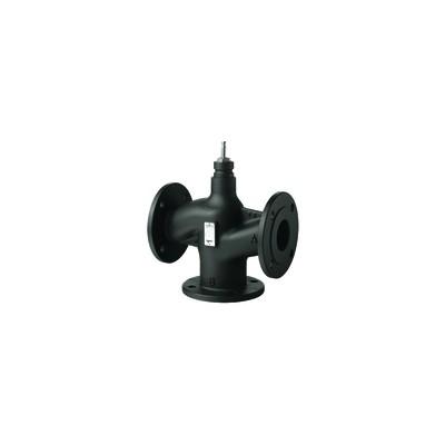 3-port seat valve, flanged, PN16, DN65, kvs 63 - SIEMENS : VXF43.65-63