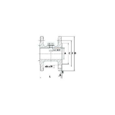 Specific electrode - Fida C flame sensing - (1 piece) - BALTUR : 25002