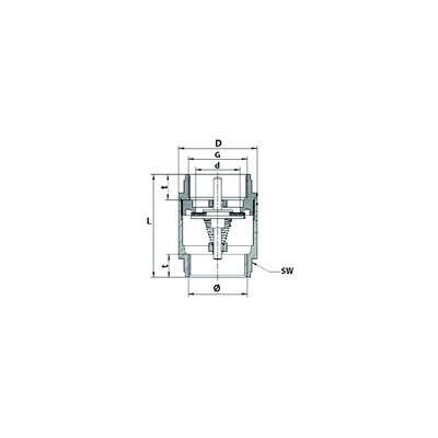 Pressure relief valve - DIFF for Unical : 02738Y