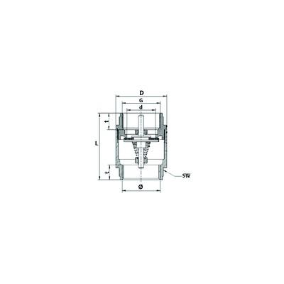 Ventiloberteil - DIFF für Unical : 02738Y