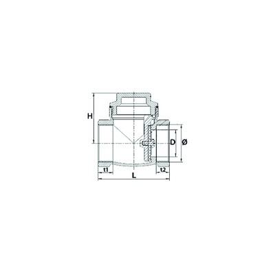 Flachdichtung  (X 3) - DIFF für Chappée : SX5207810