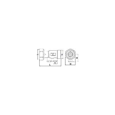 """Disconnecteur 3/4"""" scudo ca non contrôlable 573 - HONEYWELL ECC : CA295-3/4A"""