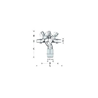 Injecteur de veilleuse (5 pièces) - CHAFFOTEAUX : 60026646