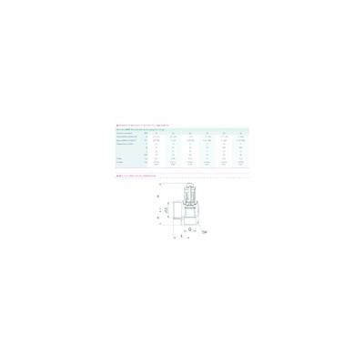 Électrode d'ionisation - DIFF pour Chaffoteaux : 61011567