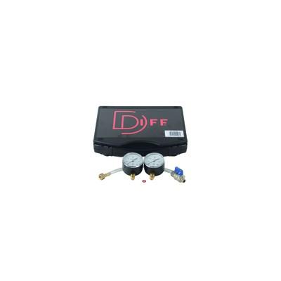 Gas pressure test kit gas manometer 60 /600 mbars