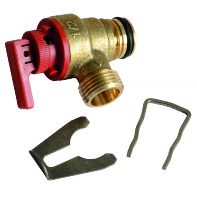Safety valve 3 bars - SAUNIER DUVAL : 0020014173
