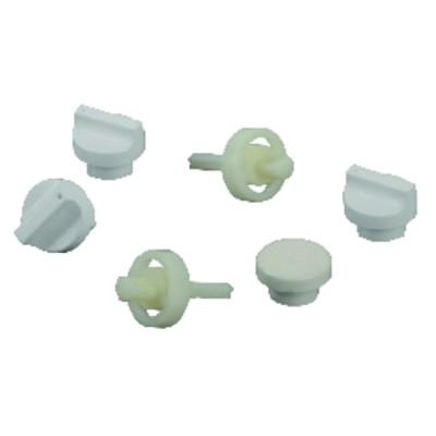 Conjunto botones y ejes blancos  - UNICAL : 04482E