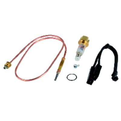 Câble haute tension standard - Câbles HT PTFE Ø 2.5mm cosse isolées(X 2)