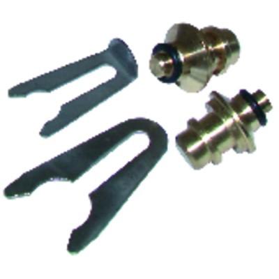 """Termocoppia - Termocoppia 6 raccordi lg 900mm x 10p (M8 - M9 - M10 - 11/32"""""""" - F6 - compressione)(X 10)"""