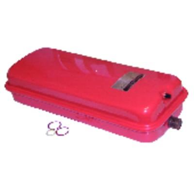 Immersion heater flange ø48mm ecb4 2200w bent once
