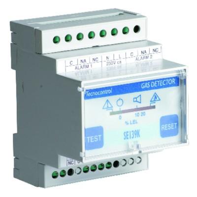 Gas detector se 139 k central unit 1 remote sensor - TECNOCONTROL : SE139K