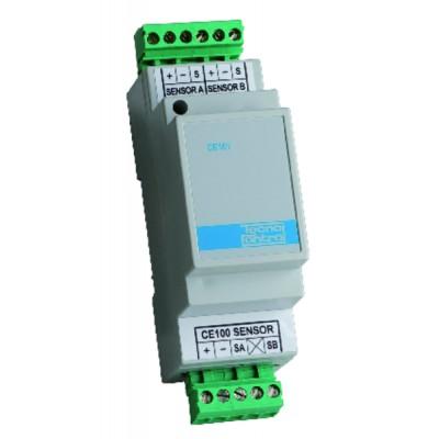 GAS DETECTOR  - Extension module 2 sensors CE 101 FOR CENTRAL CE 101 - TECNOCONTROL : CE101