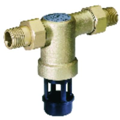 Rundes Thermometer 0° bis +120°C Durchmesser 58mm Kapillar 900 ummantelt