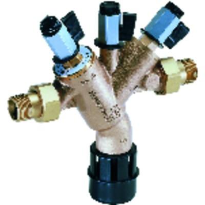 Rechteckiges Thermometer 20° bis +120°C - L 64mm x H 31mm Kapillar 1500