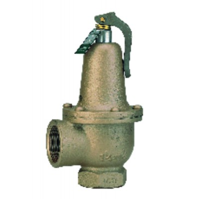 Heating safety valve FF cast iron 26x34 33x42 3 bars  - WATTS INDUSTRIES : 2226242