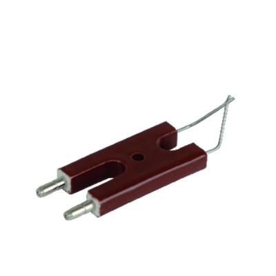 Bloc électrodes 25x48 Ø4 Ø1,5x19 52°C - CUENOD : 13011119