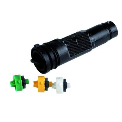Thermomanomètre noir capillaire 1 m d. - GEMINOX : 87168249050