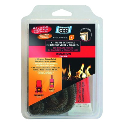 Fibreglass extendible sealing braid and Collafeu kit - GEB : 821591