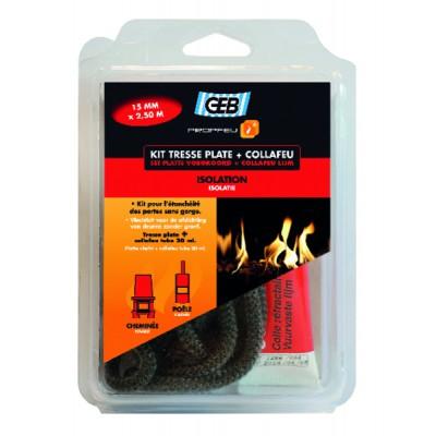 Fibreglass flat sealing braid and Collafeu kit - GEB : 821594