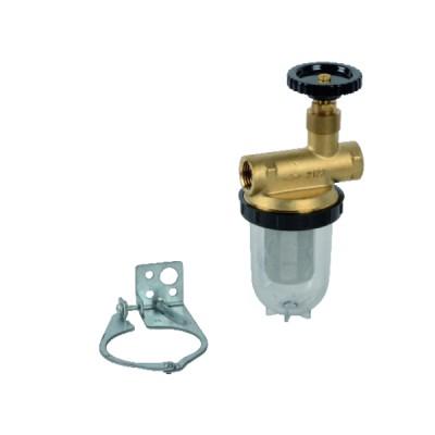 """Filtre fioul une conduite avec robinet FF1/2"""" - OVENTROP : 2123104"""