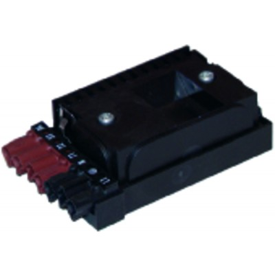 Connector amp moulded