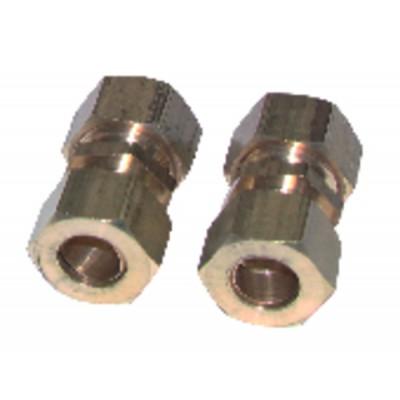 Racor de oliva recto tubo 14mm x tubo 14mm  (X 2)