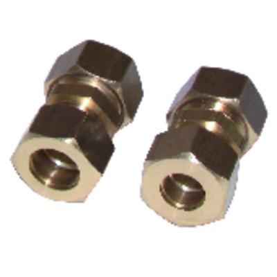 Schneidringverschraubung Gerades Rohr 12mm x Rohr 10mm  (X 2)