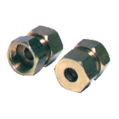 Racor de oliva recto H3/8 x tubo de 12mm  (X 2)