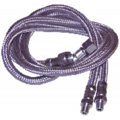 """Flessibile gasolio M1/8"""" x F1/4"""" diritto  (X 2) - ELCO : 13007943"""