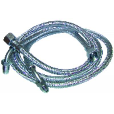"""Flessibile gasolio F3/8"""" x F12/150 gomito  (X 2)"""