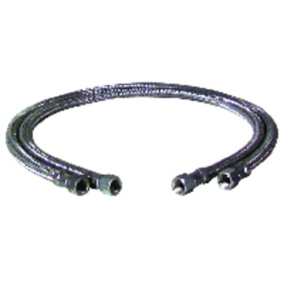 "Hose fuel f3/8"" x f3/8"" straight length 1200mm  (X 2) - BOSCH THERMOTECH : 5883583"