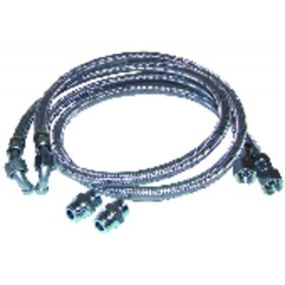 Flexible gasóleo x flexible codo con 2 racores