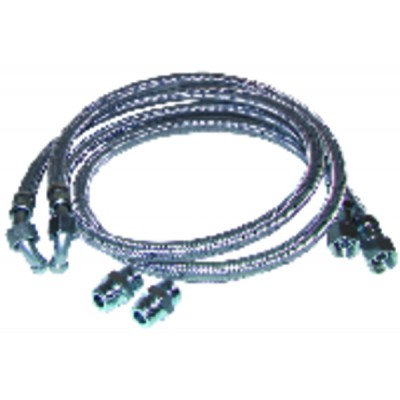 Hose fuel 2 x bent hose 1000mm with 2 fittings