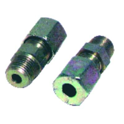 Racor de compresión recto M1/8 x tubo 8mm  (X 2)