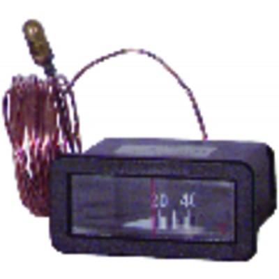 Rectangular, horizontal dial  20° +120°c l 64mm