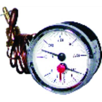 Manotermómetro 0 a 120°C - 0 a 6 bar