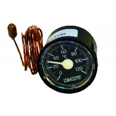 Thermomete r round dial 0° - +120°c ø43mm cap1000
